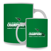 Full Color White Mug 15oz-NCCAA National Champions Womens Outdoor Track and Field