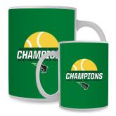 Full Color White Mug 15oz-NCCAA Mens Tennis Champions 2017 - Half Ball