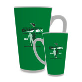 Full Color Latte Mug 17oz-NCCAA National Champions Mens Outdoor Track and Field back to back