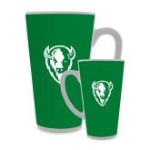 Full Color Latte Mug 17oz-Charging Bison White