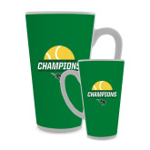 Full Color Latte Mug 17oz-NCCAA Womens Tennis Champions 2017 - Half Ball