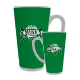 Full Color Latte Mug 17oz-2017 NCCAA National Champions - Baseball Crossed Bats