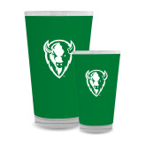 Full Color Glass 17oz-Charging Bison White