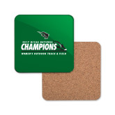 Hardboard Coaster w/Cork Backing-NCCAA National Champions Womens Outdoor Track and Field