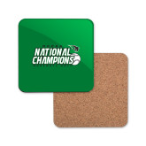 Hardboard Coaster w/Cork Backing-2017 NCCAA National Baseball Champions