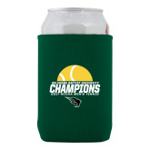 Collapsible Green Can Holder-NCCAA Mens Tennis Champions 2017 - Half Ball