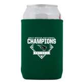 Collapsible Green Can Holder-2017 NCCAA National Softball Champions