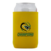 Collapsible Gold Can Holder-NCCAA Womens Tennis Champions 2017