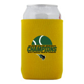 Collapsible Gold Can Holder-NCCAA Mens Tennis Champions 2017 - Half Ball