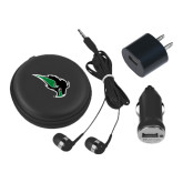 3 in 1 Black Audio Travel Kit-Power Bison