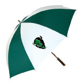 62 Inch Forest Green/White Umbrella-Charging Bison