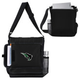 Impact Vertical Black Computer Messenger Bag-Power Bison