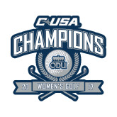 Small Decal-Conference USA Womens Golf Champions, 6 inches wide