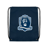 Navy Drawstring Backpack-Monarchs Shield
