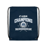 Navy Drawstring Backpack-Conference USA Womens Golf Champions