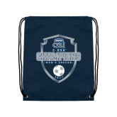 Navy Drawstring Backpack-2017 Conference USA Mens Soccer
