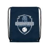 Navy Drawstring Backpack-2017 Conference USA Mens Soccer
