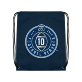 Navy Drawstring Backpack-10 Years Football