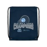 Navy Drawstring Backpack-2018 CUSA Mens Tennis Champions