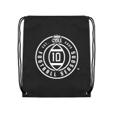 Black Drawstring Backpack-10 Years Football
