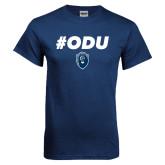 Navy T Shirt-ODU Hashtag