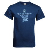 Navy T Shirt-Basketball Net