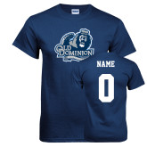 Navy T Shirt-Primary Mark, Custom Tee w/ Name and #