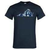 Navy T Shirt-Lion State