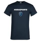 Navy T Shirt-#ODUSPORTS