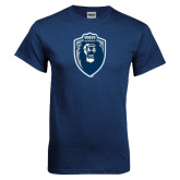 Navy T Shirt-Lion Shield