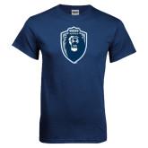 Navy T Shirt-Lion Shield