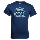 Navy T Shirt-ODU with Crown