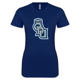 Next Level Ladies SoftStyle Junior Fitted Navy Tee-ODU Step