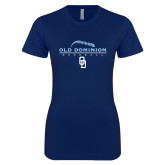 Next Level Ladies SoftStyle Junior Fitted Navy Tee-Baseball Threads