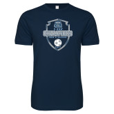 Next Level SoftStyle Navy T Shirt-2017 Conference USA Mens Soccer