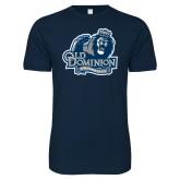 Next Level SoftStyle Navy T Shirt-Primary Mark