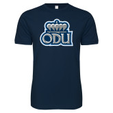 Next Level SoftStyle Navy T Shirt-ODU w Crown