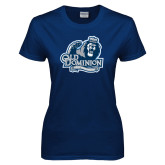 Ladies Navy T Shirt-Lady Monarchs