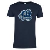 Ladies Navy T Shirt-Primary Mark