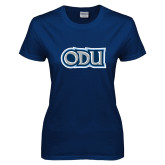 Ladies Navy T Shirt-ODU