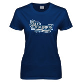 Ladies Navy T Shirt-Old Dominion University