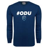 Navy Long Sleeve T Shirt-ODU Hashtag