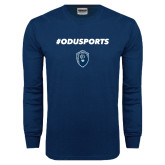 Navy Long Sleeve T Shirt-ODUSPORTS Hashtag