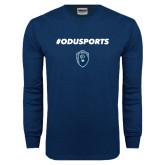Navy Long Sleeve T Shirt-ODUSPORTS Hashtag