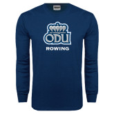 Navy Long Sleeve T Shirt-Rowing