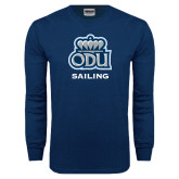Navy Long Sleeve T Shirt-Sailing