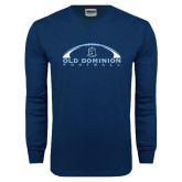 Navy Long Sleeve T Shirt-Football Inside