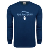 Navy Long Sleeve T Shirt-Baseball Threads