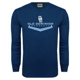 Navy Long Sleeve T Shirt-Baseball Plate