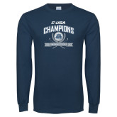 Navy Long Sleeve T Shirt-Conference USA Womens Golf Champions
